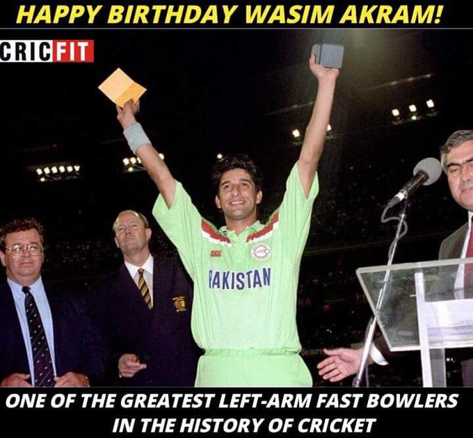 Happy Birthday Wasim Akram!