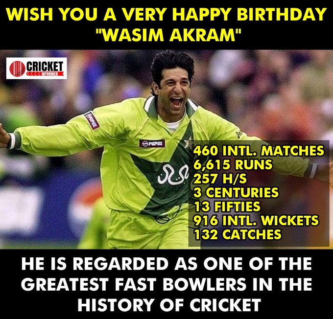 Happy Birthday Wasim Akram.