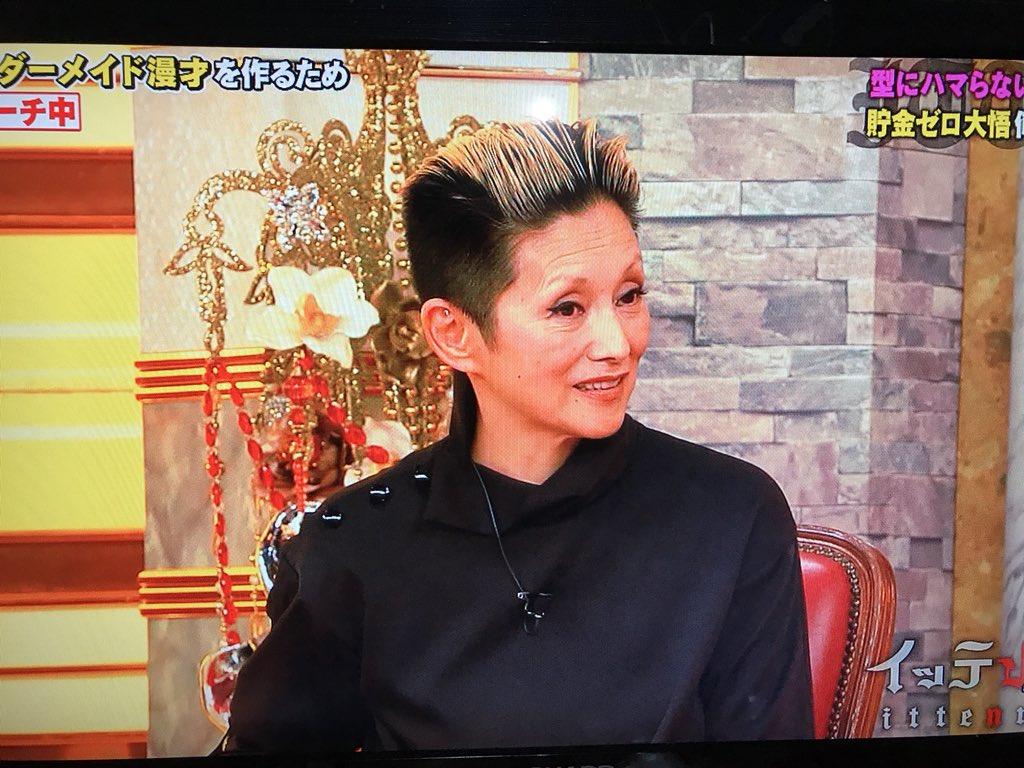 髪のアクセサリーが素敵な夏木マリさん