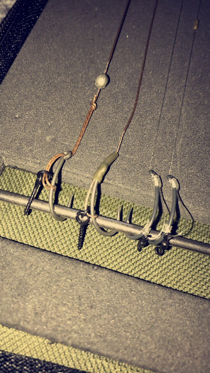 New rigs <b>Ready</b> for the weekend👌🏻 #carp #slipD #multi #IQD #fox #korda #esp #carpfishing