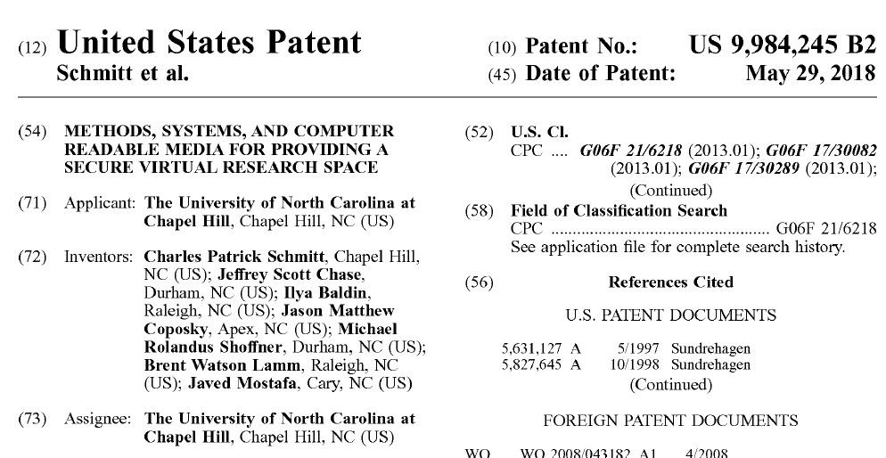 test Twitter Media - My warm thanks to colleagues @RENCI and @NCTraCS for their support! After overcoming numerous challenges and a 5-year long battle, we managed to receive an important patent in the research data systems and security area.   https://t.co/bjYHG7vP1i https://t.co/YuYbUNVNxB