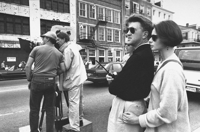 Happy birthday to Isabella Rossellini, seen here with David Lynch on the set of \Wild at Heart\ (1990).