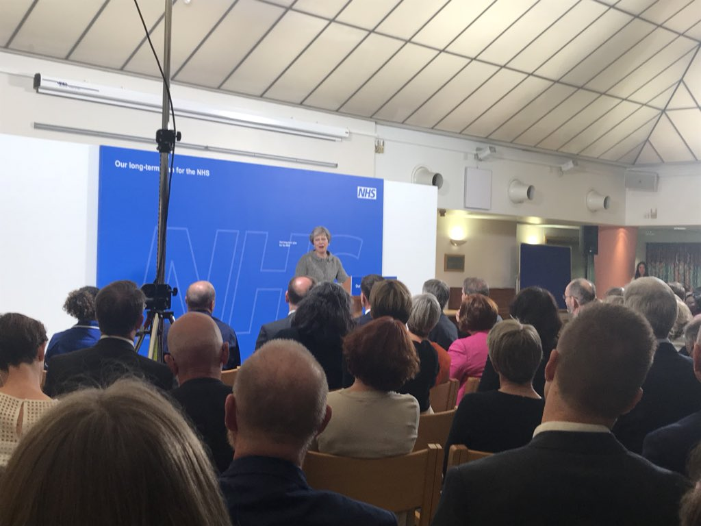 @theresa_may speaking now @RoyalFreeNHS on NHS funding @TheKingsFund https://t.co/VveA0JHro1