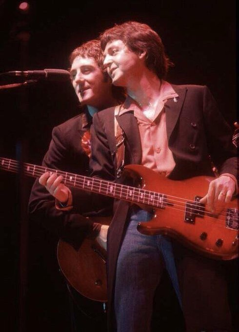 Happy Birthday Sir Paul McCartney -pictured here with another Rock and Roll Hall of Fame member, Denny Laine.