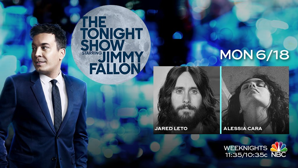 RT @FallonTonight: Fun show tonight with @JaredLeto and talk + music from @alessiacara! #FallonTonight https://t.co/LTr6LTZ73C