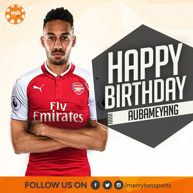 Happy 29th birthday to Arsenal and Gabon striker, Pierre-Emerick Aubameyang.