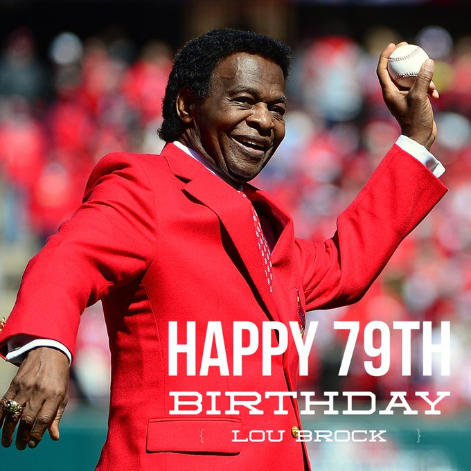 We\re still thanking the Cubs for gifting Lou Brock to us Have a happy birthday, Lou