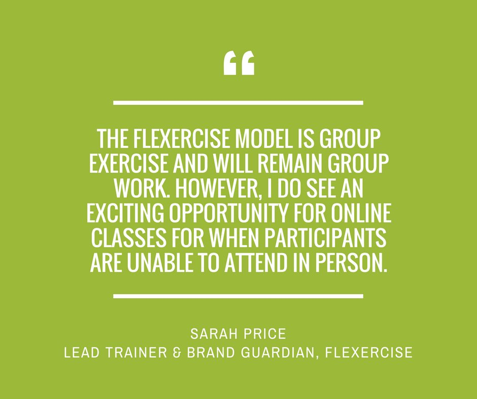 Image for Want to know where GroupX tech is headed for the world's leading fitness providers? We've been speaking to some to find out! Next in the series, Sarah Price of @fl_exercise_uk tells us if technology & FLexercise have a future…Read it here: https://t.c