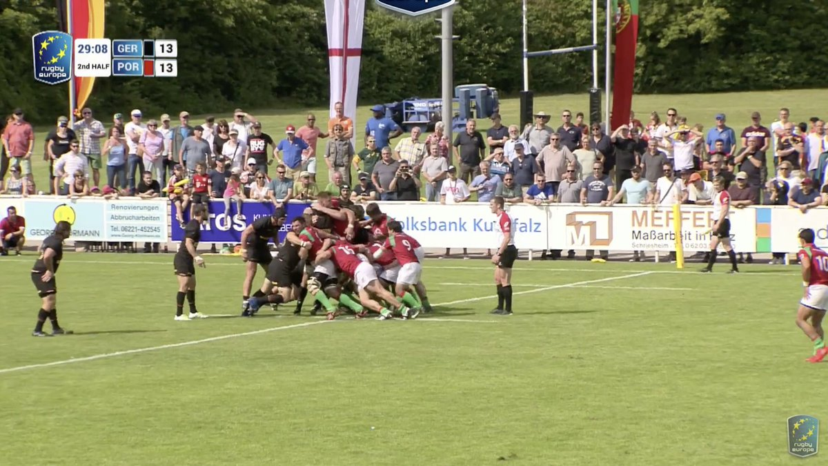 test Twitter Media - Just 10 minutes left and it's @DRVRugby 13-13 @rugbyportugal  The winner will play Samoa home and away on 30 June and 14 July, with the overall winner of that double header qualifying for Pool A at #RWC2019 https://t.co/4HIoimpbiM https://t.co/F7bpY2kEaz