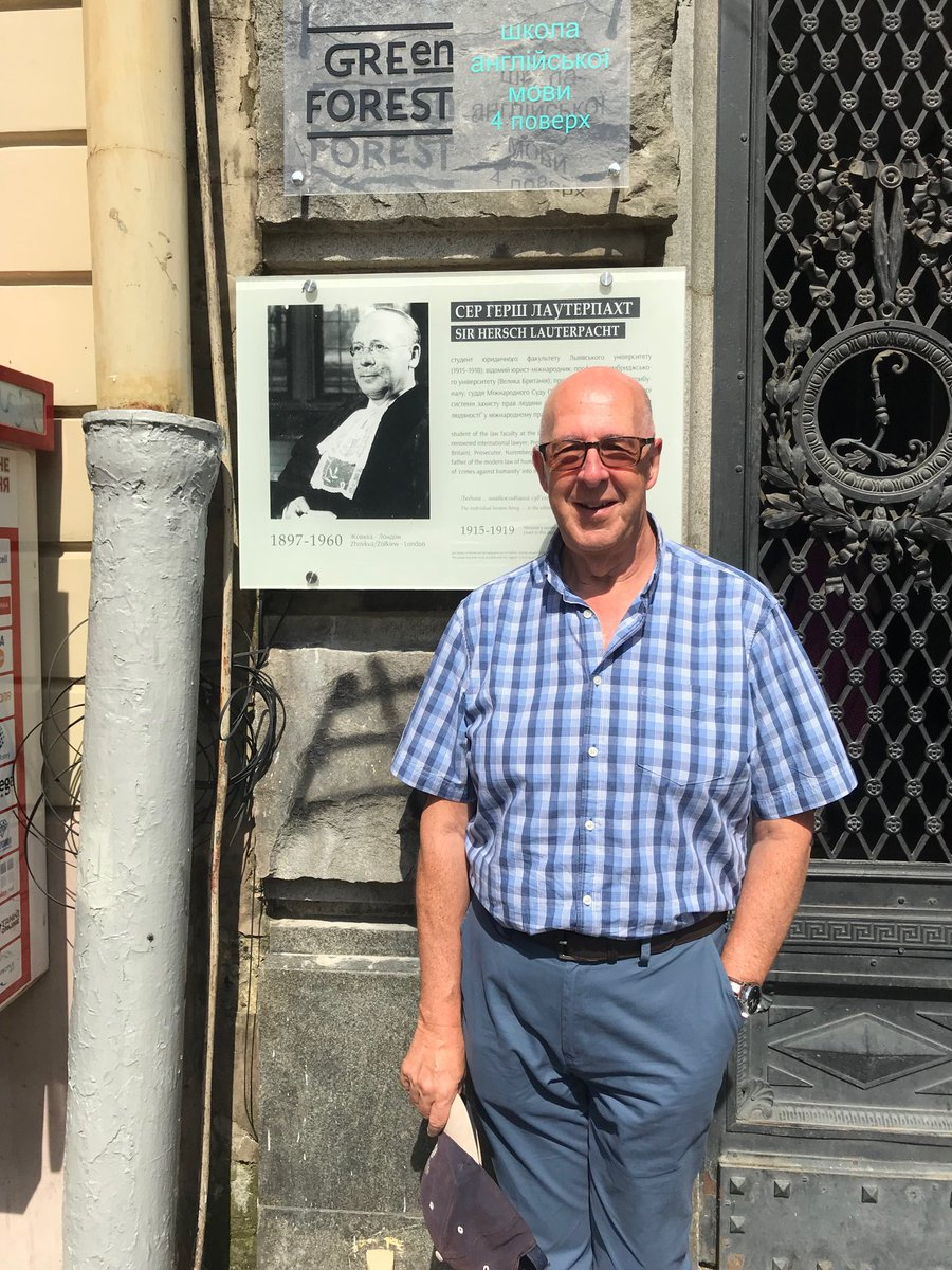 test Twitter Media - Mark completes his Philippe Sands East-West Street pilgrimage outside house ever Lauterpacht lived #NPLSLviv2018 https://t.co/STfbue7bE8