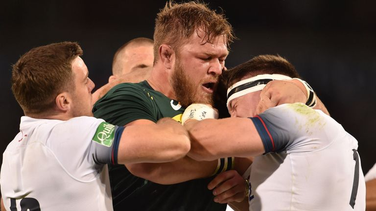 test Twitter Media - REPORT - South Africa wrapped up their summer Test series with England a week early on Saturday as they beat Eddie Jones' ill-disciplined charges 23-12 in Bloemfontein: https://t.co/7g80IniCm7 https://t.co/zANPz9tfev