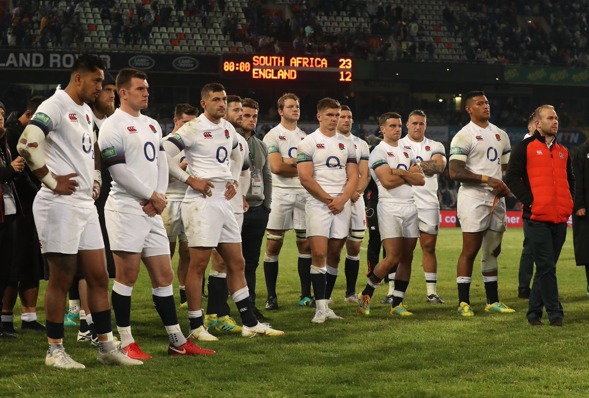 test Twitter Media - England suffered a fifth consecutive test defeat in Bloemfontein today as South Africa ran out 23-12 winners. For the second week in a row an early lead was overturned by the Springboks. https://t.co/eKXPdAcRE3
