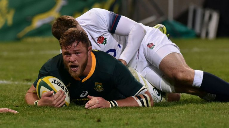 test Twitter Media - HIGHLIGHTS & REPORT: South Africa wrapped up their summer Test series with England a week early as they beat Eddie Jones' ill-disciplined charges 23-12 in Bloemfontein. https://t.co/Uu6Rv8JA8M https://t.co/gkUR4JXHw8
