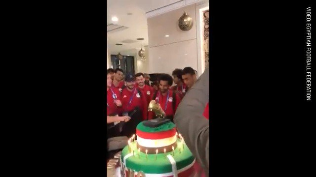 Happy birthday to Mohamed: Salah gets a birthday cake as Egypt prepares for its next match