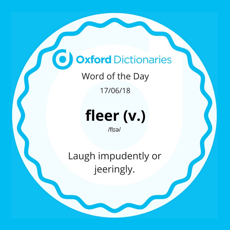 test Twitter Media - Word of the Day: fleer https://t.co/AXLDfw2BXY https://t.co/IrGVsX0eI7