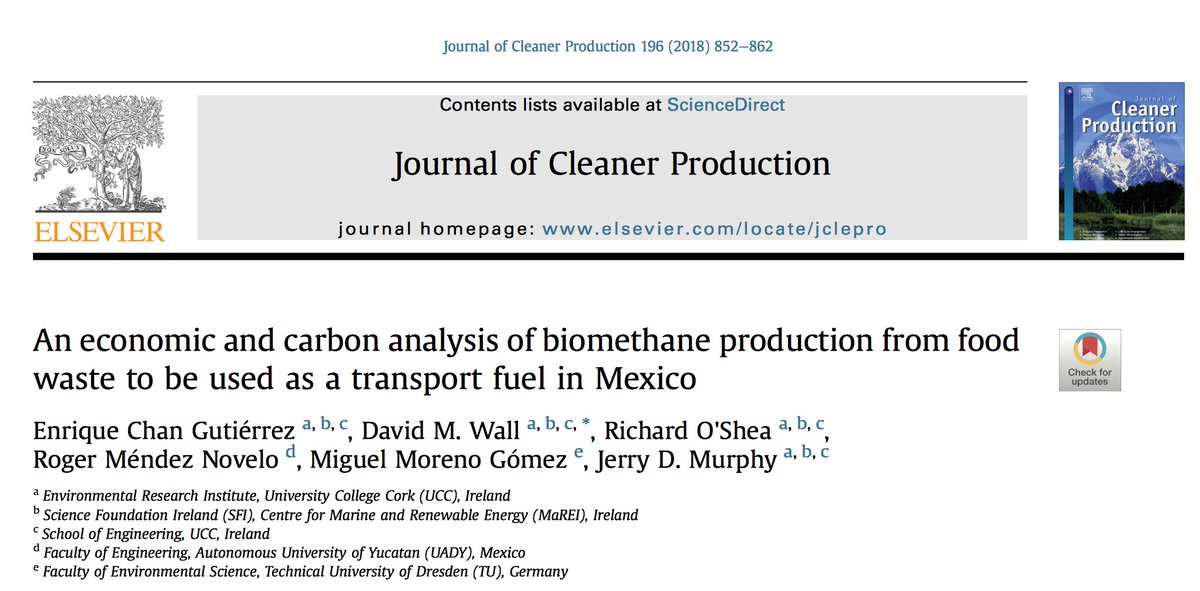 test Twitter Media - Latest paper from @MaREIcentre #Bioenergy in collaboration with @uady Mexico on food waste biomethane as a sustainable clean transport biofuel in Mexico finds potential to displace 6.5% of diesel: 65,000 t/y food waste can power 136 buses https://t.co/wnDhjSJQlO https://t.co/ScVh2cJmmM