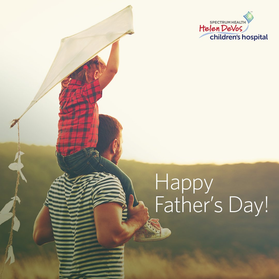 Helen DeVos Children's Hospital wishes dads everywhere a very happy Father's Day! https://t.co/R2zv1kwArY