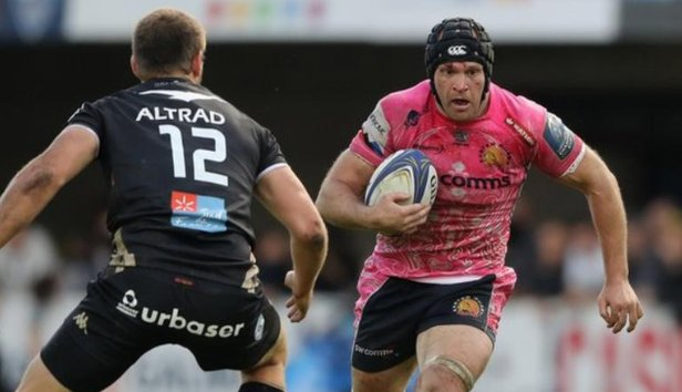 test Twitter Media - Exeter Chiefs flanker Julian Salvi has retired from playing and been named defence coach by the club. Read👉https://t.co/yDWUGnt46w https://t.co/yOZ5n9SICP