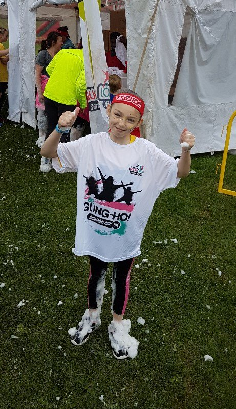 test Twitter Media - Very proud of this young lady and her mum who ran the Gung Ho Inflatable 5k at Cofton Park for Children in Need on Saturday 16th June. Very messy but looked like fun. Bring on the Wythall Fun Run. Well done https://t.co/Puy4Gk3cZ0