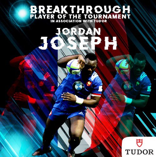 test Twitter Media - Congratulations to @FFRugby's Jordan Joseph who's your Breakthrough Player of the Tournament in association with Tudor #BornToDare #WorldRugbyU20s https://t.co/J0Tz09O7e5
