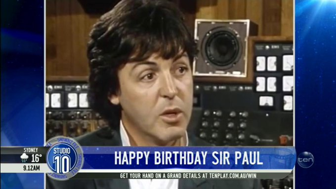 Happy Birthday to music legend Sir Paul McCartney, who turns 76 today!