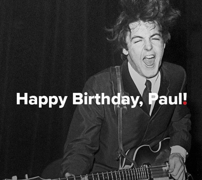 Happy birthday Sir Paul McCartney!