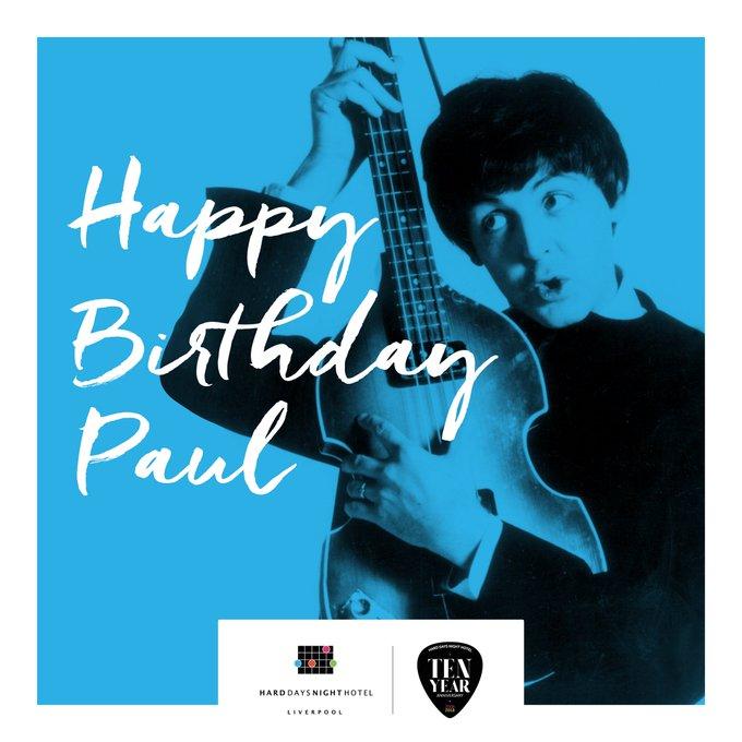 Happy birthday Sir Paul McCartney from us all
