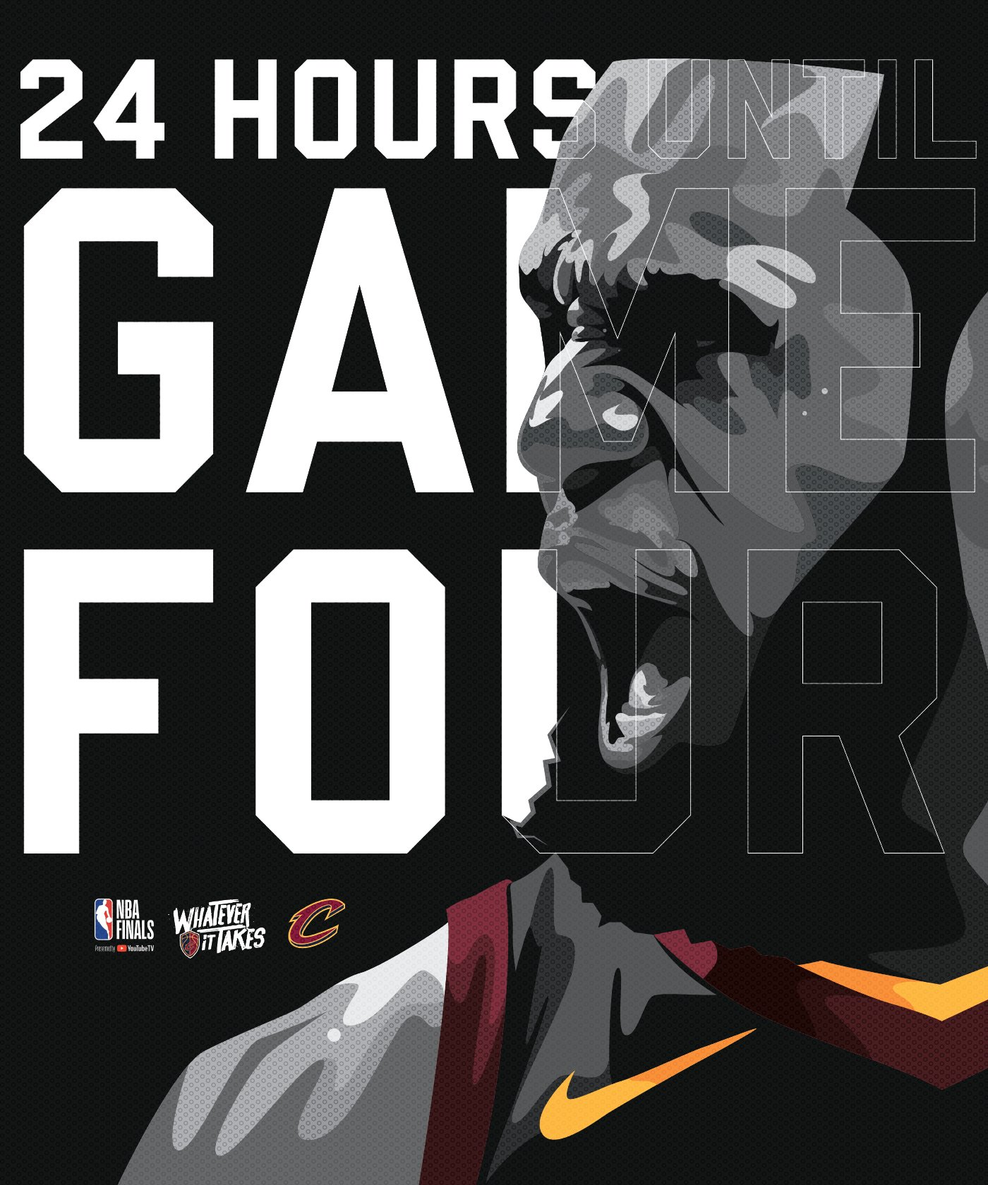 24 HOURS UNTIL GAME 4. #NBAFinals || #WhateverItTakes https://t.co/KprW7eSEVP
