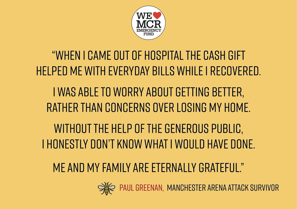 test Twitter Media - Your donations have made a real difference to those affected by the Arena attack. Survivor Paul Greenan is one of many who wish to say 'thanks'. Read Paul's story here:  https://t.co/MVuJloklVp https://t.co/3R9VWYzFJS