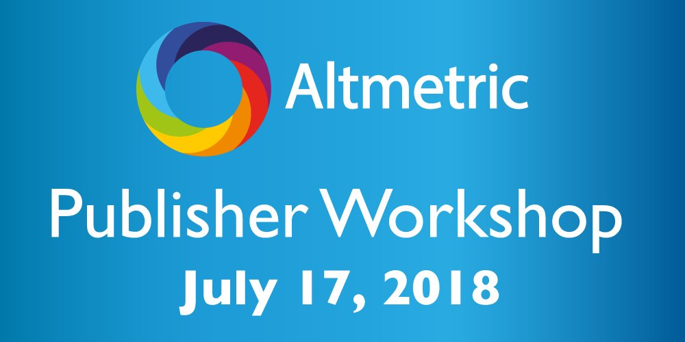 test Twitter Media - Sign up quick to reserve your spot at @altmetric publisher workshop at the @TheShardLondon ! The event is free and lunch and other refreshments will be provided, with a drinks reception to follow at the end of the day. https://t.co/FAr7orAOBx https://t.co/5cYpcuGSmy