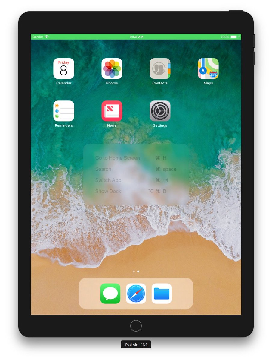 @ishabazz iPad Air iOS 11.4 sim https://t.co/kI9CTpPYjG