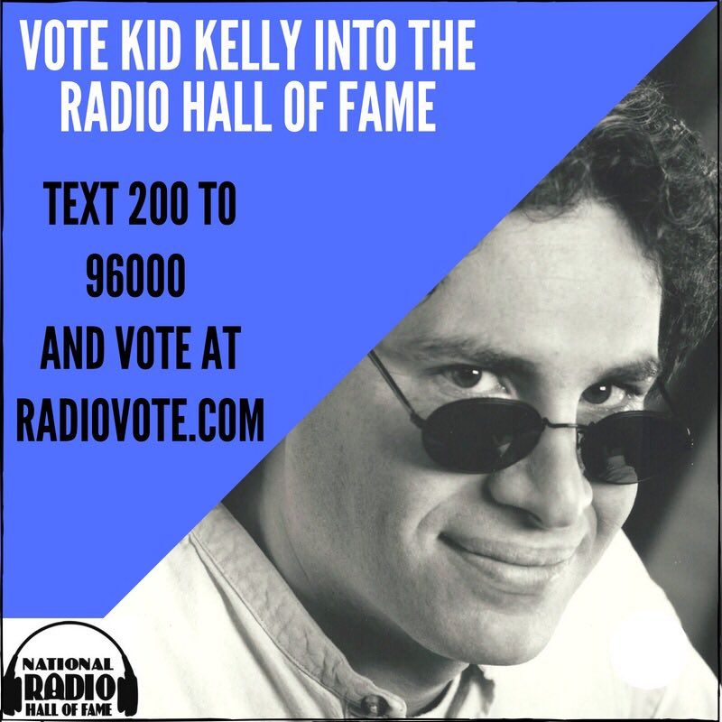 Showing lots of love for @kidkelly! Vote @kidkelly into the Radio Hall of Fame @RadioHOF https://t.co/u27LjGfVGs