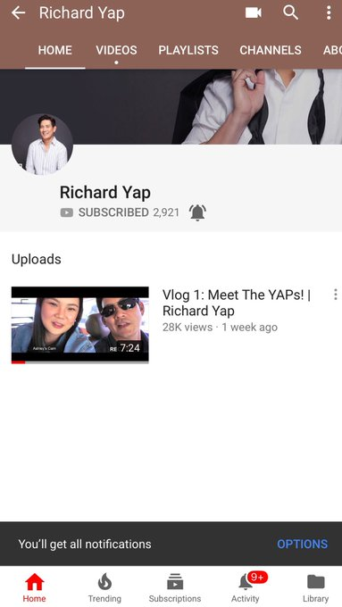 Happy Bday Sir Chief! Follow him at YT: Richard Yap  via