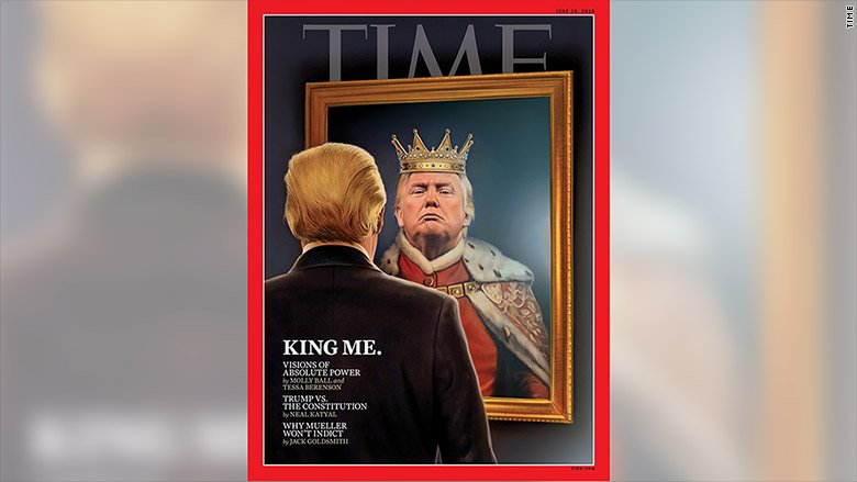 President Trump is dressed as a king on the new Time magazine cover