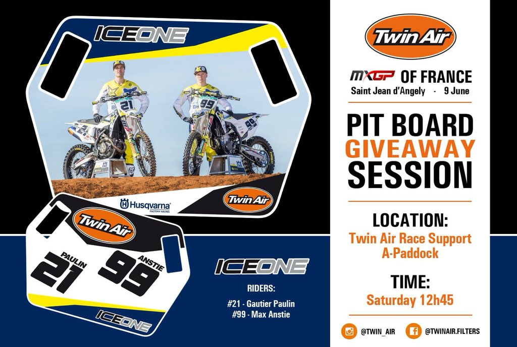 Stop by the Twin Air stand at the @MXGP of France today! https://t.co/iQdTKaVGfR