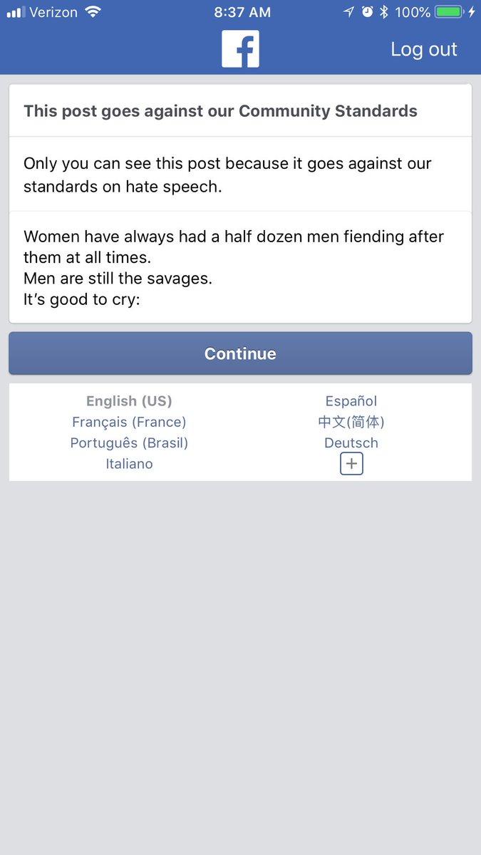 Facebook is ran by fragile egoed incels. Kntb2pfq2N