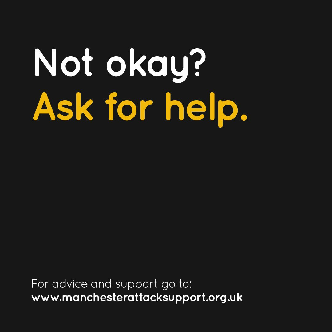 test Twitter Media - It is OK to not be OK. If you need help in dealing with the Manchester Arena attack, advice and help is available here: https://t.co/O0ISopJSP4 https://t.co/CpYwzwBSSu