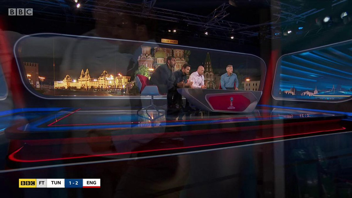 If you didn't celebrate like @GaryLineker are you even an England fan?  #ENGTUN #bbcworldcup https://t.co/nRFG4Znwi3