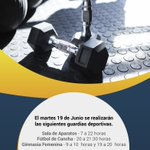 #GuardiasDeportivas 🕙 para el martes 19 de Junio https://t.co/LniEAJotfj