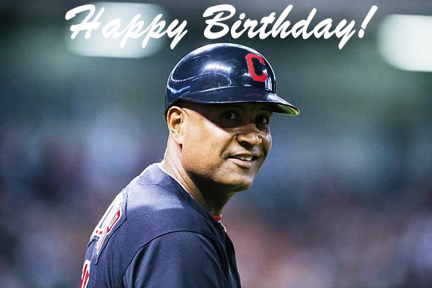 Happy birthday to client and friend, Sandy Alomar Jr.!