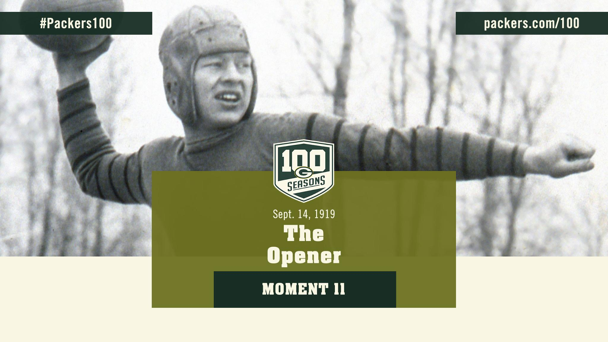 Sept. 14, 1919: The first game in #Packers history  ��: https://t.co/KTAYtNg2WP   #Packers100 https://t.co/rADJLykTgZ