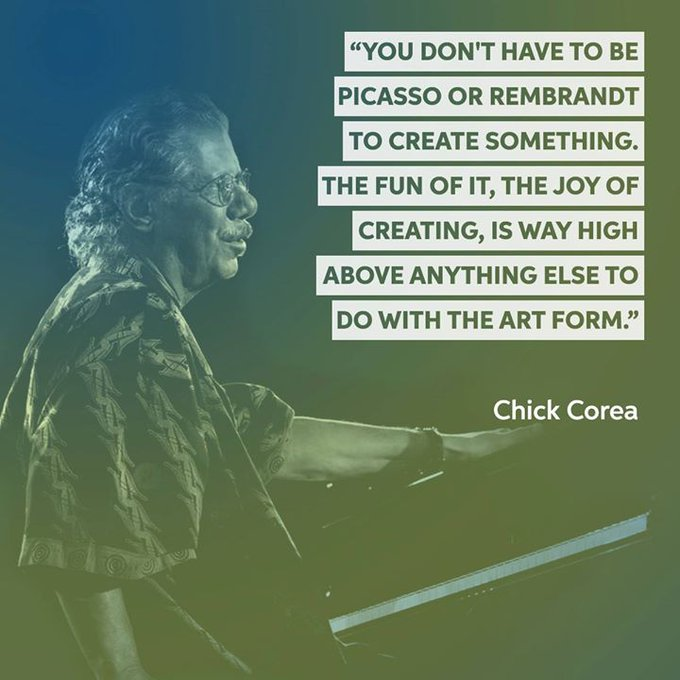 Happy birthday to jazz pianist/electric keyboardist and composer, Chick Corea.