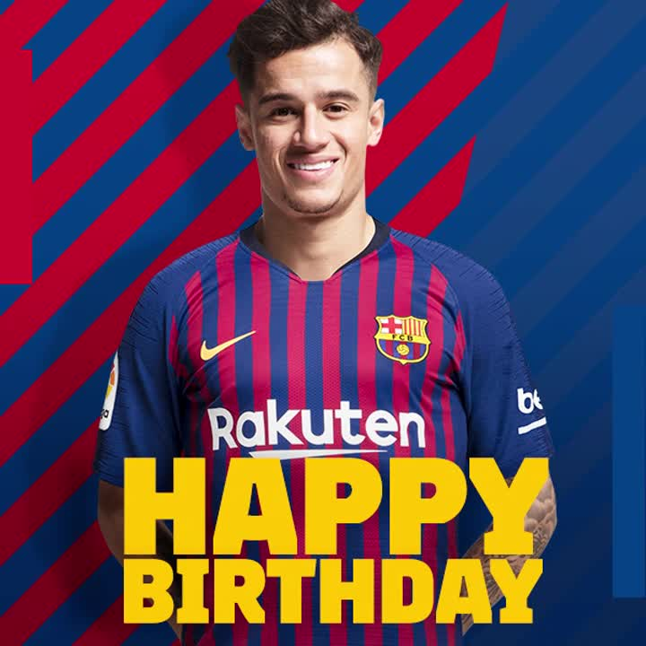 RT @FCBarcelona: ???? Happy birthday, @Phil_Coutinho ! ???? ???? Leave a comment with your birthday wishes for Coutinho ???? https://t.co/uml8bDwt6k