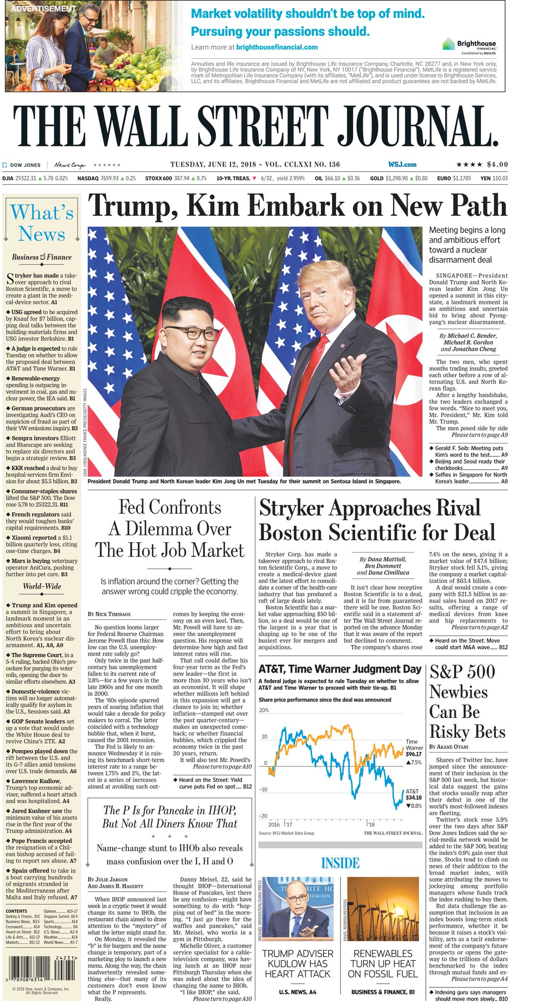 Take an early look at the front page of The Wall Street Journal https://t.co/5xQPDPcm8q #TrumpKimSummit https://t.co/Zw4dCaTx1c