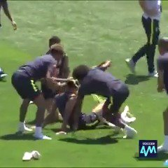The Brazil squad wishing Philippe Coutinho a very happy birthday
