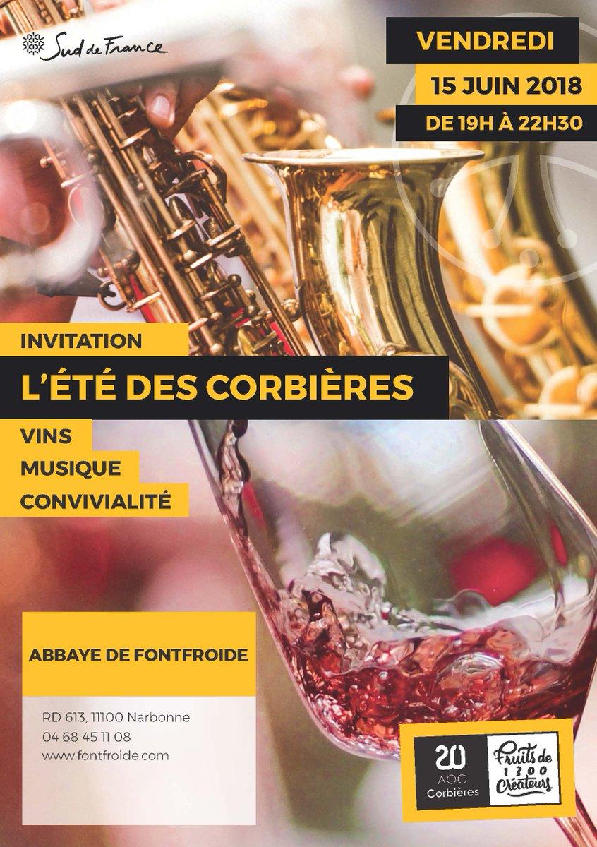 L'Été des Corbières, c'est ce vendredi 15 Juin à Fontfroide ! A partir de 19h00,...