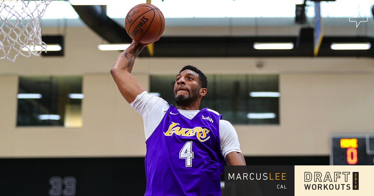 Working out for the #LakeShow today, @CalMBBall's Marcus Lee https://t.co/MCfOSH5veK