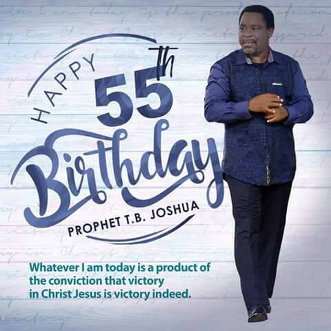 Happy Birthday Prophet T.B Joshua