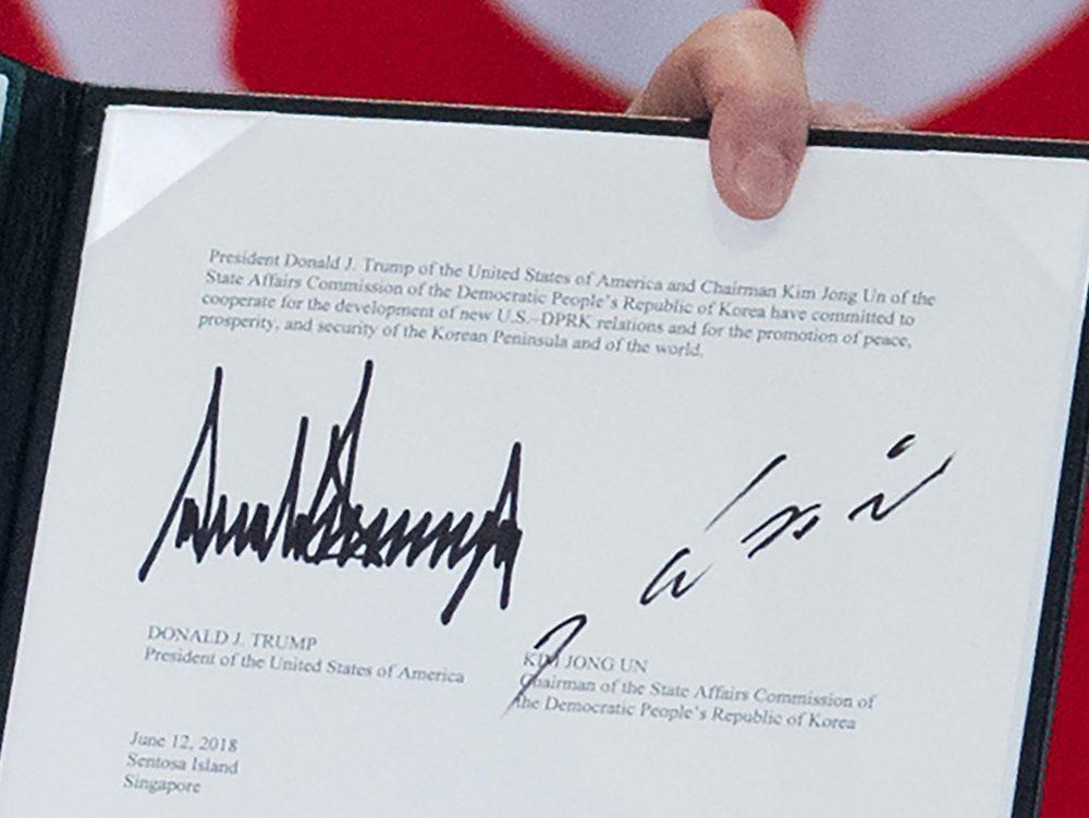 Donald Trump and Kim Jong Un signed something in Singapore. Here's what it says