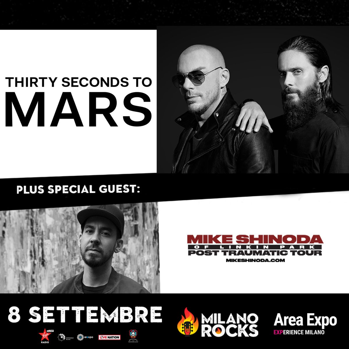 MILAN. @MilanoRocks. SEPT 8, with Special Guest @mikeshinoda.  https://t.co/di8UxRohRR  #MonolithTour #MilanoRocks https://t.co/hXLRhSHsBw